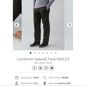 Men's Lululemon Seawalk Track Pants 2.0